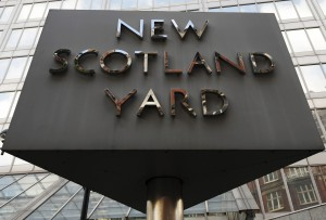 New Scotland Yard in London Sign