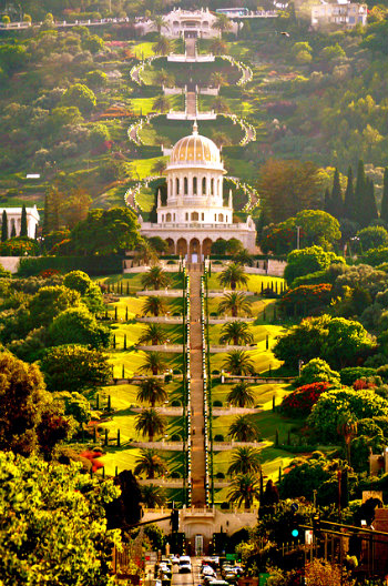 Shrine of the Bab located in Haifa, Israel
