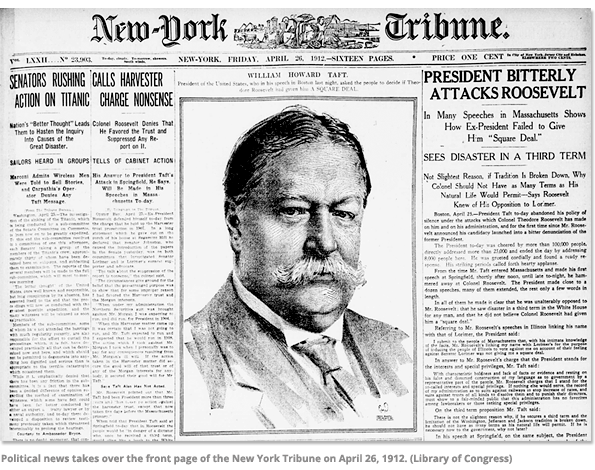 Front Page of the New York Tribune