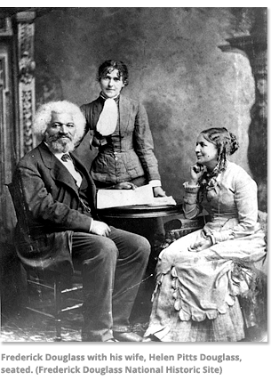 Frederick Douglass with his wife
