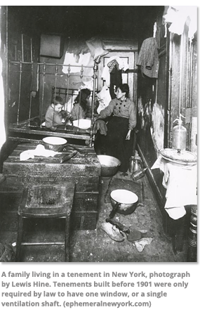 A Family in tenement in New York