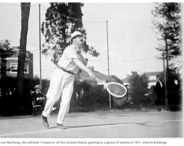 Lee McClung playing tennis
