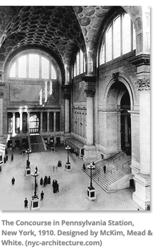 The Concourse in Pennsylvania Station in New York 1910