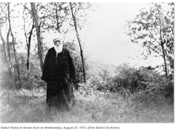 Abdu'l-Baha at Green Acre in 1912
