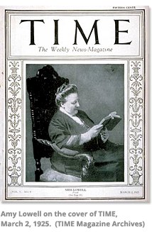 Amy Lowell on the cover of Time