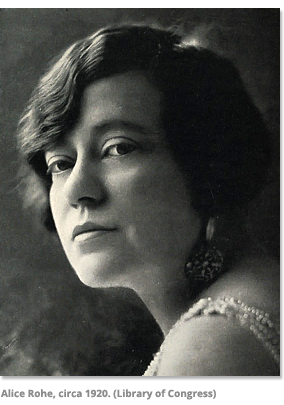 Alice Rohe in 1920
