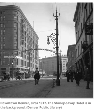 Downtown Denver, 1917