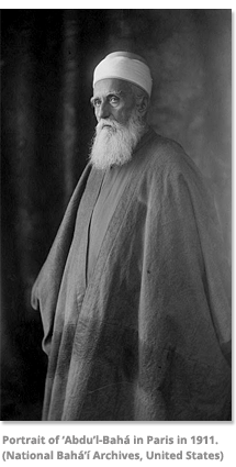 Portrait of Abdu'l-Baha in Paris in 1911