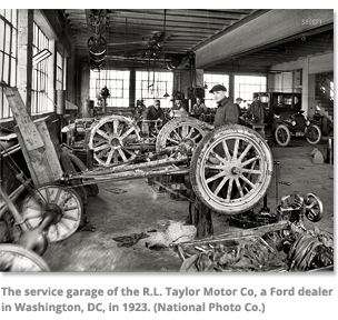 Service Garage of the R.L. Taylor Motor Co.