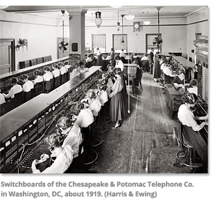 Switchboards of the Chesapeake Telephone Co.