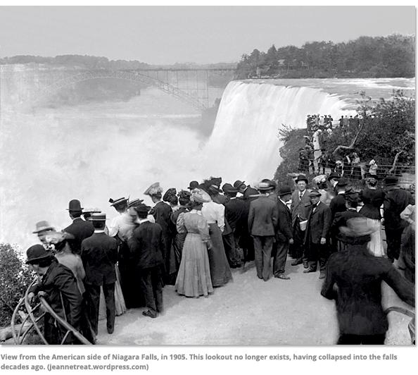 View from the American sideof Niagara Falls in 1905