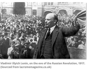 Vladimir Lenin on the eve of the Russian Revolution in 1917