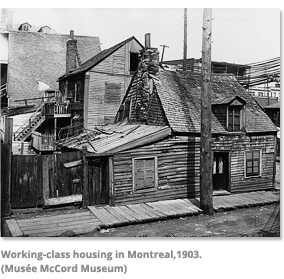 Working-class housing in Montreal in 1903