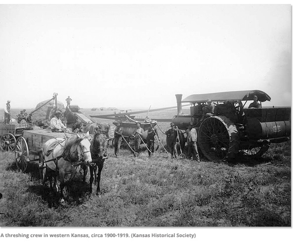 A Threshing Crew in Western Kansas