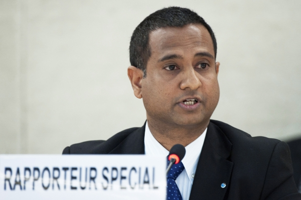 Ahmed Shaheed, the UN Special Rapporteur on human rights in Iran