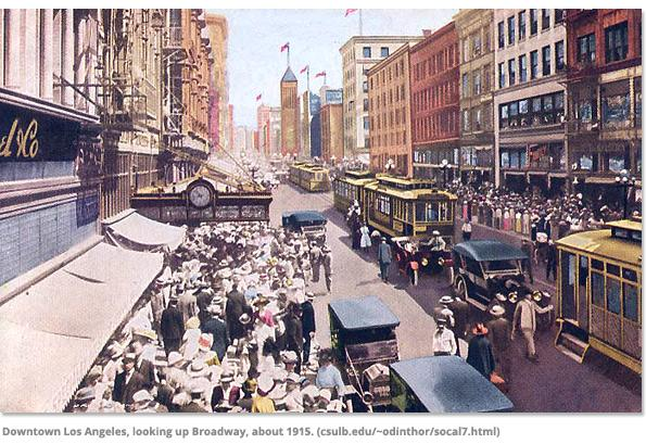 Downtown Los Angeles in 1915