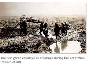 Lush Green Countrysie of Europe during the Great War