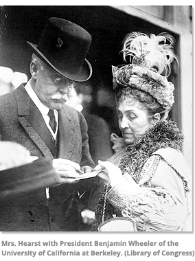Mrs. Hearst with President Benjamin Wheeler of Berkelely