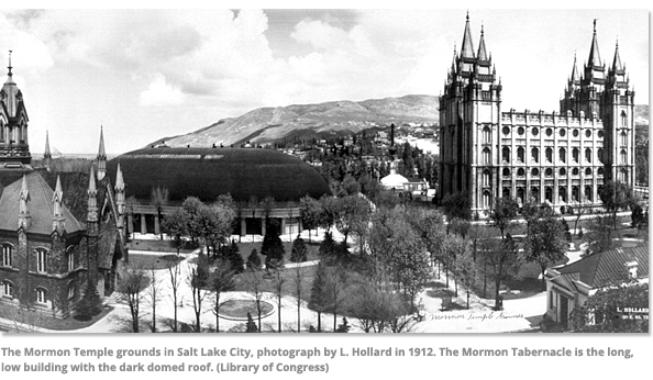 The Mormon Temple grounds in Salt Lake City