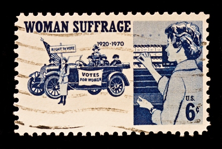 Women Suffrage Postal Stamp