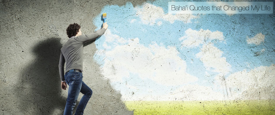 Young man drawing a cloud