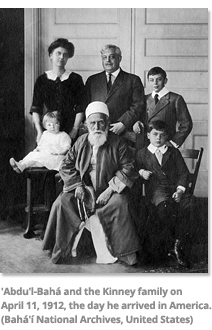 Abdu'l-Baha and Kinney Family