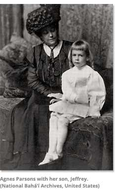 Agnes Parsons with her son, Jeffrey