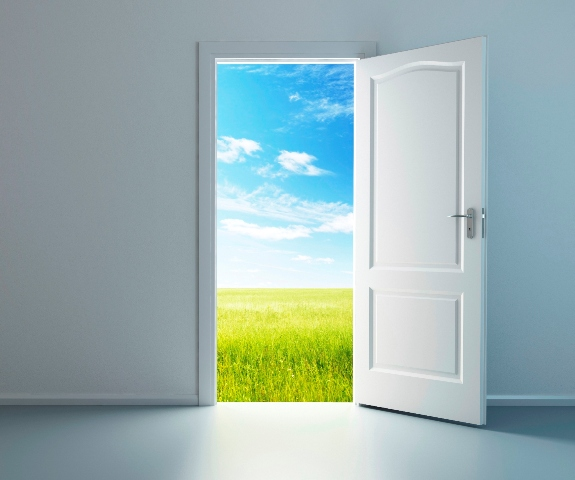 opening door door opening On door to outside