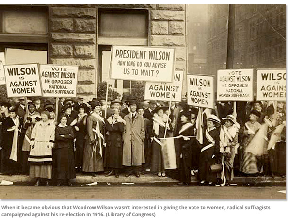 Suffragists Protest