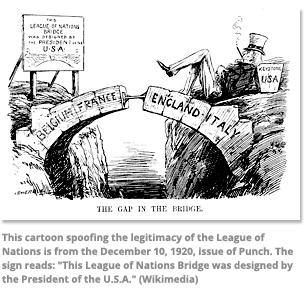 Cartoon spoofing league of nations