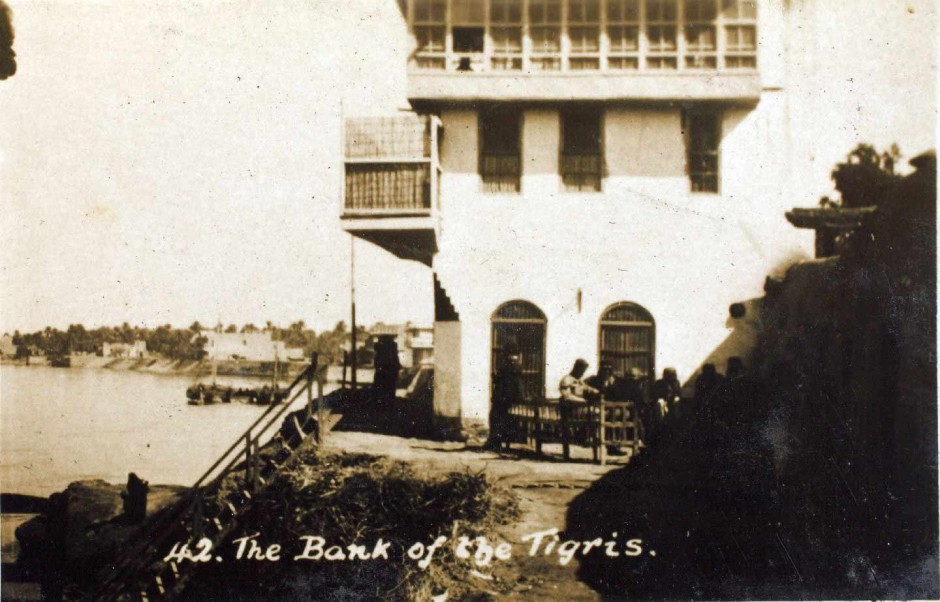 The bank of the Tigris River in Baghdad, Iraq.