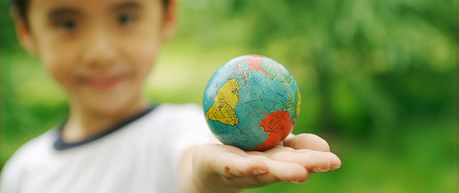 the world in child's hand