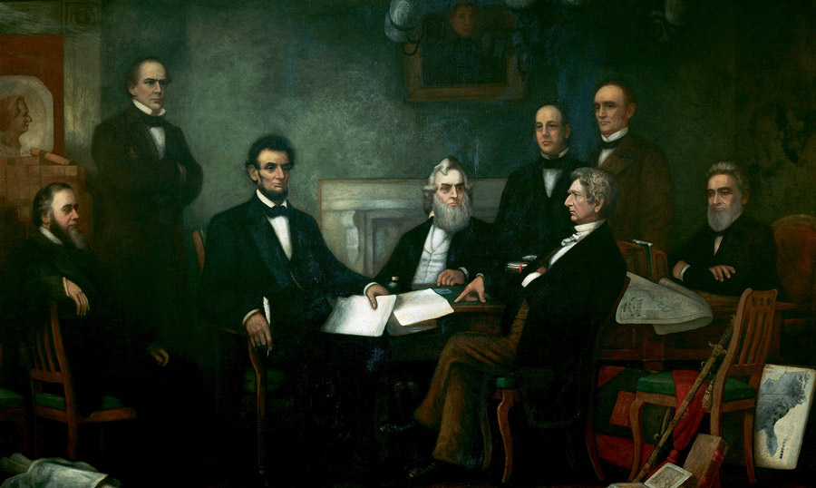 'First Reading of the Emancipation Proclamation of President Lincoln' by Francis Bicknell Carpenter (1864)
