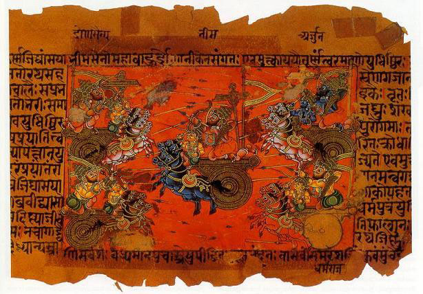 Depiction of the Battle of Kurukshetra