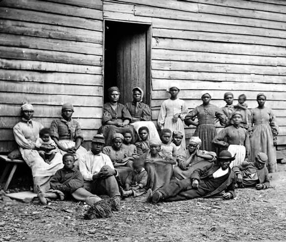 Emancipated slaves who built the white house