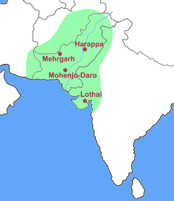 Map of Indus Valley