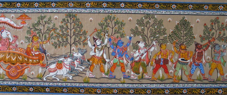 Painting depicting Hindu Gods
