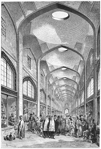 Bazar in Shiraz 1881