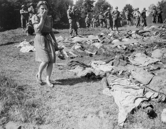 Germans touring concentration camps