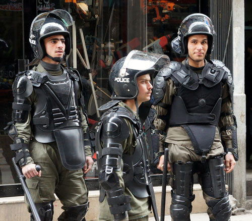 Syrian riot police