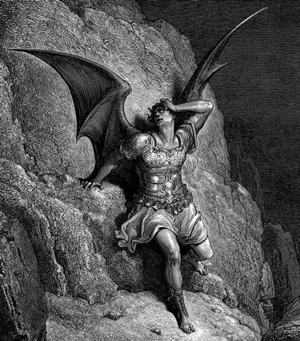 Illustration of Satan from Paradise Lost by Gustave Doré