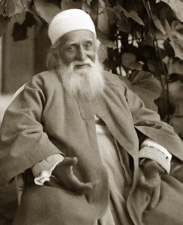 Abdu'l-Baha in New Hampshire (1912) (National Baha'i Archives, US)