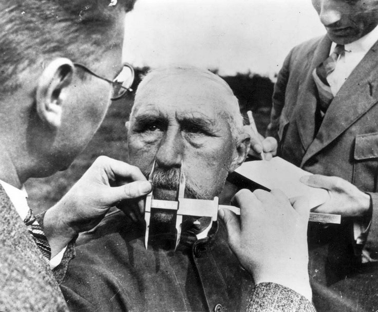 Nazi era eugenics had German scientists measuring German noses with callipers to ensure their Aryan lineage