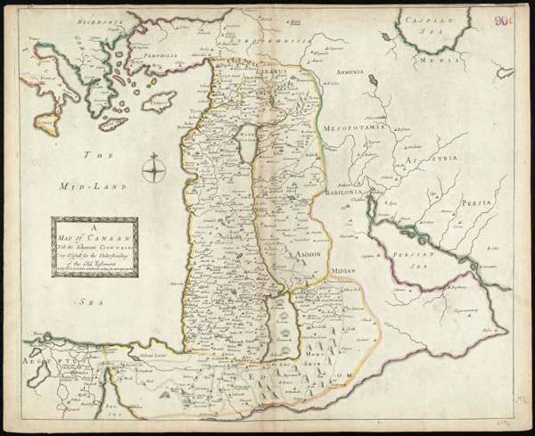 Map-of-Canaan-from-1692