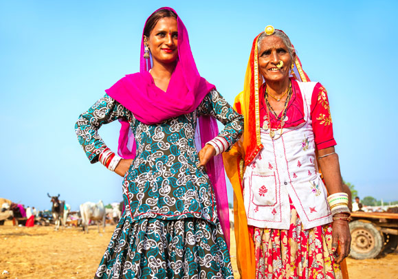 Mother-and-daughter-in-India
