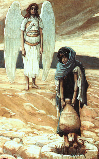 Hagar and the Angel in the Desert by James Tissot (1900)