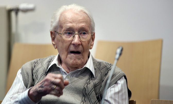 Oskar Gröning, 94 year old who served as accountant for Auschwitz stands trial