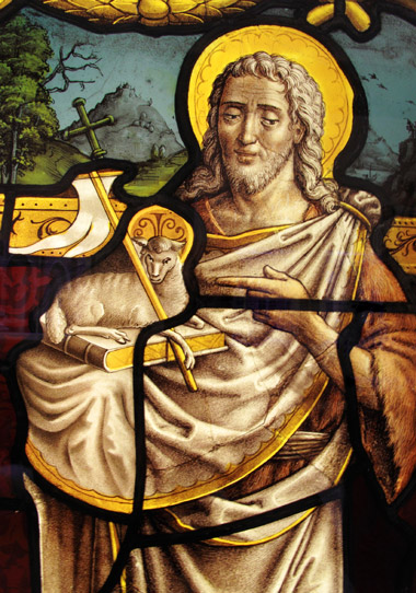 Portrayal-of-Christ-holding-a-lamb