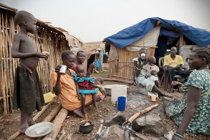 Displaced persons camp in South Sudan