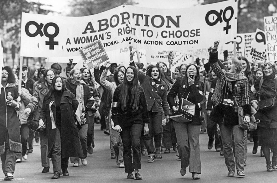 Women march after landmark Roe vs Wade decision